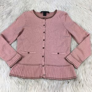 Marc Jacobs Preppy Polka Dot Button Front Cardigan